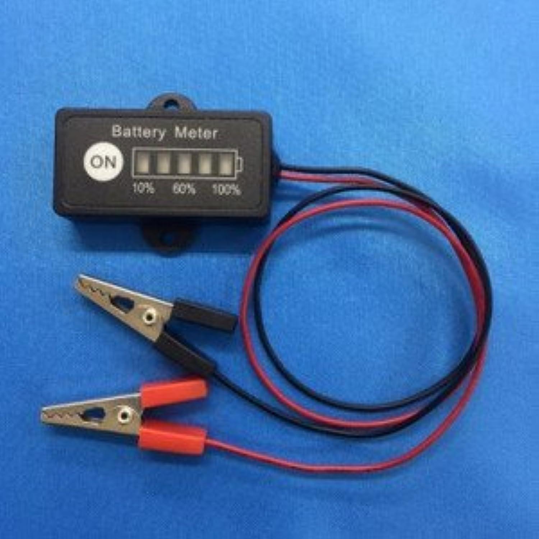 24V専用 LEDバッテリーチェッカーワニ口クリップ付 ※日本語マニュアル付