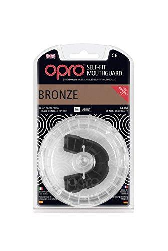 Opro Bronze Zahnschutz, Schwarz, Einheitsgröße