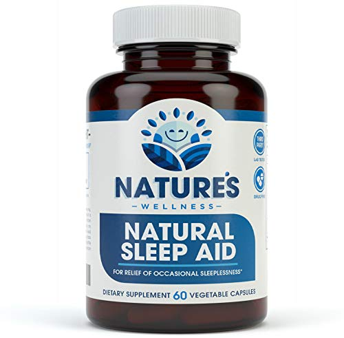 Natural Sleep Aid For Adults By Nature'S Wellness, 60-Count | 100% Herbal Remedy Sleeping Pills, Safe &Amp; Effective Natural Insomnia Relief Supplement | Non-Habit Forming Blend Allows Deep Sleep &Amp; Rest