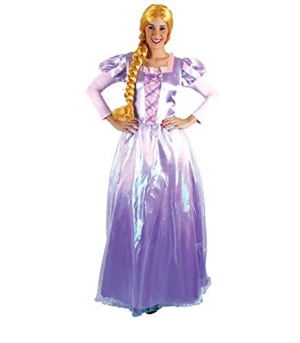 Carnavalife, Disfraz de Princesar Rapunzel, Vestido Violeta Largo Mujer para Fiesta de Carnaval, Cumpleaños, Fiesta Temática. Talla L