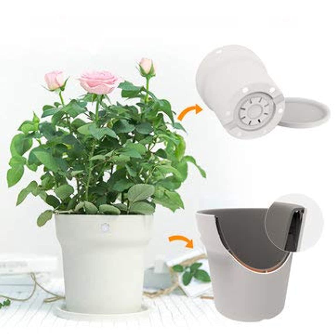 Original Flora Smart Flower Pot Monitor Digital Plants Grass Soil Water Tester Sensor - Gardening Garden Pots & Planters