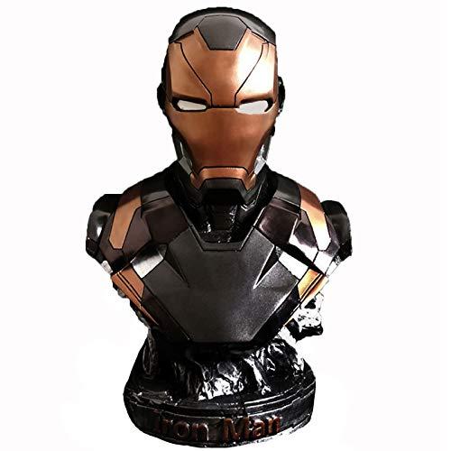 Heizung Modelo de Caracteres Vengadores MK46 Iron Man Busto Busto Estatua Resina Rojo y Negro Dos Colores Juguetes para niños y Adultos. (Color : Black)
