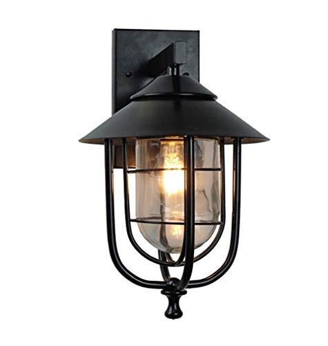 YSJ LTD buitenwandlamp, vintage buitenwandlamp LED waterdicht industrieel decor buitenlamp zwart wandlamp lampen binnenhovlechtlampen