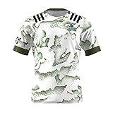 Copa del Mundo Rugby Jersey 2021 Nueva Zelanda Elevada Gente de tierra Rugby Jersey Uniforme Manga corta 100% Tela de poliéster Deportes Casual Fitness Training Camiseta Camisa de fútbol para fanático
