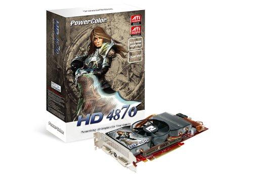 PowerColor ATI Radeon HD4870 Grafikkarte (PCI-e, 512MB GDDR5 Speicher, Dual DVI, TV-Out, 1 GPU) Lite Retail