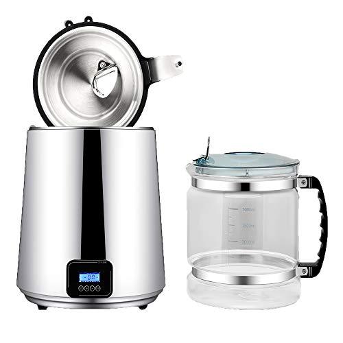 Kacsoo Distillatore d'acqua, Distillatore d'acqua pura Filtro purificatore d'acqua 750W 4L,...
