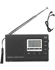 Draagbare Radio, HRD-310 Draagbare Radio Mini-stereo FM/MW/SW-ontvanger MP3-speler Lcd-scherm met Digitale Klok 3,5 Mm Koptelefoon