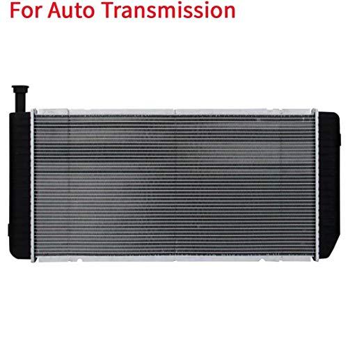 YY HEAITH Auto Al/Plastic Radiador 2 Filas para Chevy Express 2001-02 GMC Savana 3500 8.1L V8