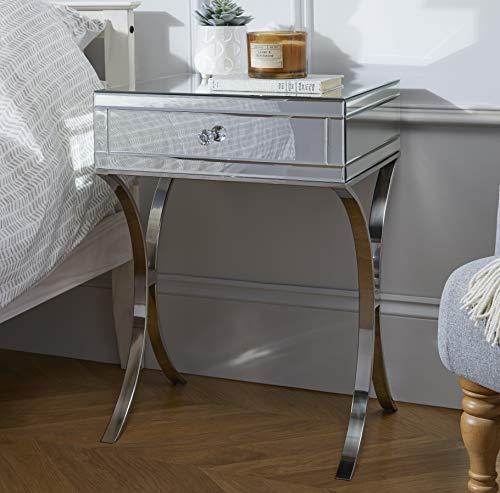 Furniturebox UK Porto Mirrored Bedside Table