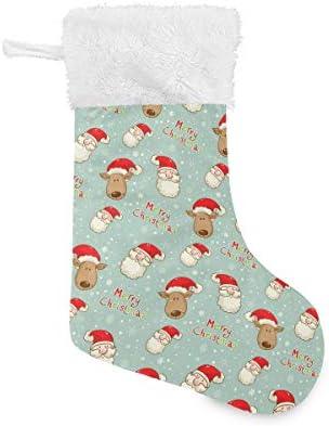 XiangHeFu Kerst Kousen 2 PackLeuke Kerst Kerstman En Herten18 Inch Groot voor Familie Xmas Vakantie Decoraties