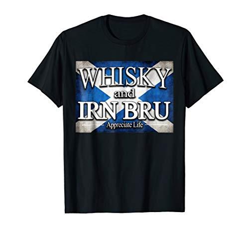 Whisky And Irn Bru Scottish Scotch T Shirt Scotland Can