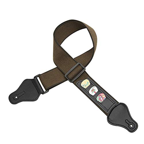 Artibetter Professionelle Dual Use Ukulele Gurt Haken Aufgehängt Schulter Verstellbarer Gurt Ukulele Gürtel Instrumente Zubehör (Braun)