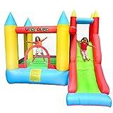 PLAY4FUN Château Gonflable pour Enfants 2,80m : Aire de Jeux avec Toboggan et Mur d'escalade - Souffleur et Sac de Rangement Inclus - L280 x P275 x H210 cm - Sunny Jelly