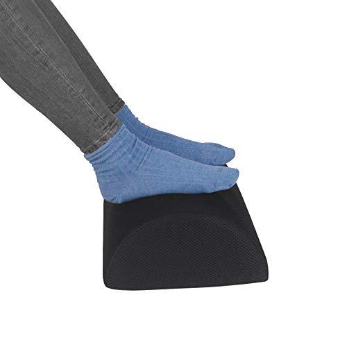 Gwolken Ergonomic Foot Rest Under Desk with Non-Slip Surface, High Rebound Foam Footstool Footrest Ottoman Half-Cylinder Relieve Pain for Office, Home, Airplane,Travel (Mesh Footrest)