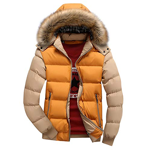 Men's Winter Removable Hooded Frost-Fighter Sherpa Lined Midi Packable Parka Jackets Outerwear Overcoat (Dark Brown,X-Large)