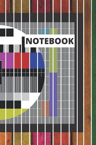 Notebook: television test image cover.: 120 lined pages. 6x9 inches.