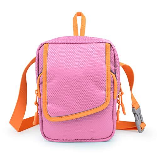 CJH multifunctionele mobiele telefoon, kleine tas voor buitensporten, vrije tijd, diagonaal, pakket, licht, draagbaar, roze