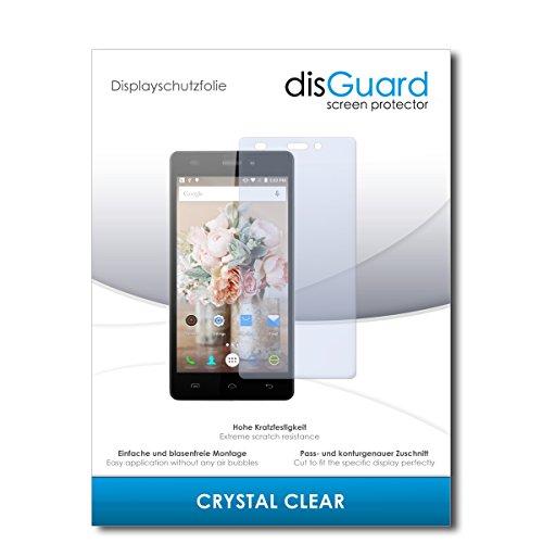 disGuard® Bildschirmschutzfolie [Crystal Clear] kompatibel mit Doogee X5 [4 Stück] Kristallklar, Transparent, Unsichtbar, Extrem Kratzfest, Anti-Fingerabdruck - Panzerglas Folie, Schutzfolie