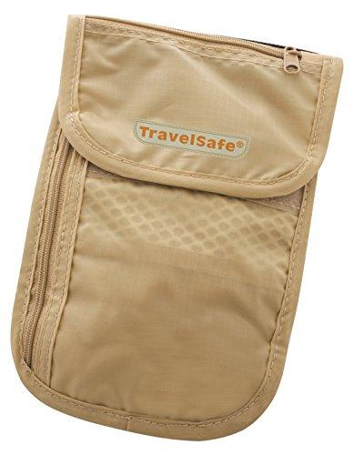 Petit coffre-fort Travelite Pochette Tour avec 3 poches fermeture éclair beige