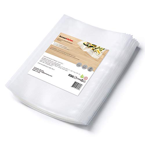 Bonsenkitchen Profi Vakuumierbeutel 15x25cm cm für Vakuumierer & Folienschweißgerät mit Lebensmittel Sous Vide, BPA-frei und Kochfest, 50 Vakuumbeutel - VB8905