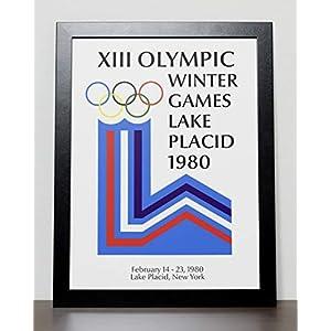 Plakat der Olympischen Winterspiele Poster – Lake Placid 1980
