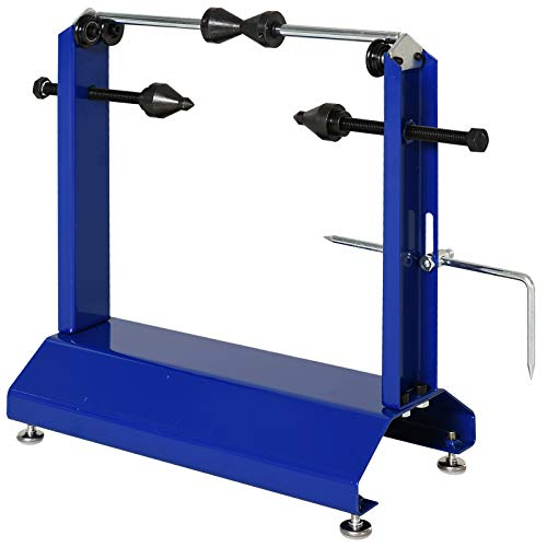 DURHAND Motorcycle Bicycle Tire Wheel Balancer and Truing, 15.75'x7.75'x17', Blue
