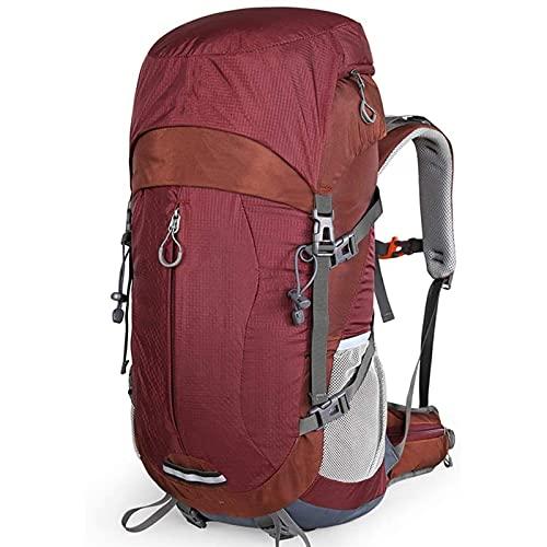 FLZXSQC Mochila de montañismo, Doble Impermeable, Resistente al desgarro, cómodo, Transpirable, de Gran Capacidad Mochila de Senderismo