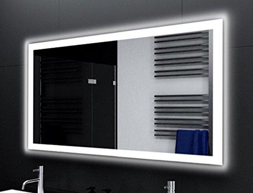 Badspiegel Designo MA4110 mit A++ LED Beleuchtung - (B) 150 cm x (H) 80 cm - Made in Germany - Technik 2019 Badezimmerspiegel Wandspiegel Lichtspiegel TIEFPREIS rundherum beleuchtet Bad Licht Spiegel