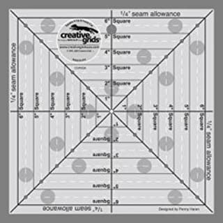 Creative Grids Ruler Square It Up 6.5 Inches