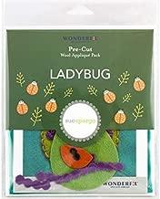 Wonderfil Sue Spargo Pre-Cut Wool Applique Pack, Ladybug - Colorway 4 (Lagoon Background)