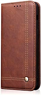 Protective Case Compatible with Samsung Business Slim Flip Folio Wallet PU Leather Magnetic Protective Case Cover Compatible Samsung Galaxy S10 Lite Phone case (Color : Brown)