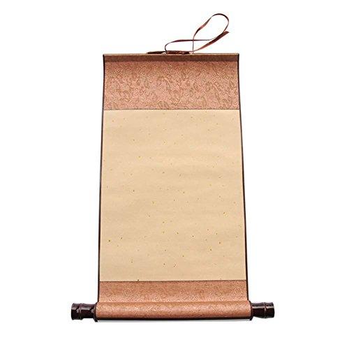 Set de 2 rollos de pergamino de papel de pintura china en miniatura para caligrafía, B