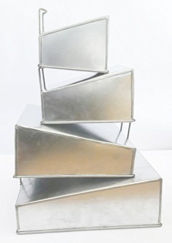 Set of 4 Tier Mini Topsy Turvy Square Multilayer Birthday/Wedding Anniversary Cake Tins/Cake Pans/Cake Moulds 5'.7'.9'.11' all (lower 2.5' x higher 4' deep)