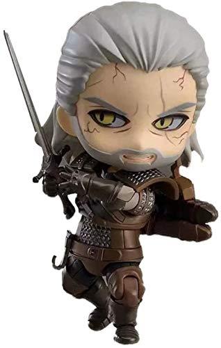 Kinder Anime Geschenke The Witcher 3: Wild Hunt Geralt Nendoroid Actionfigur Figuren für Jungen und Fans 3 9 Zoll