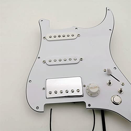 PickGuard prewired Pickups de Guitarra SSH Estilo Alnico5 Pickups multifunción Adecuado para FD St Guitar