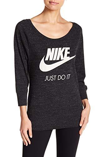 Nike Vintage Gym Oversized Pullover Sweatshirt (X-Small) Black