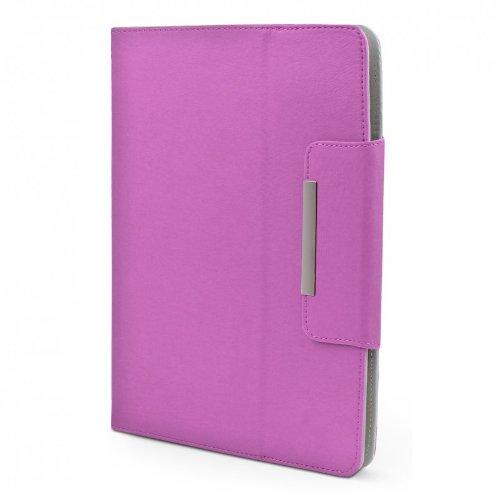 ROYALZ Hülle für Medion LifeTab X10607 (MD 60658) Tasche (10.1 Zoll) Schutz Hülle Cover Schutzhülle Schutztasche mit Aufsteller in hochwertiger Leder-Optik, Farbe:Lila