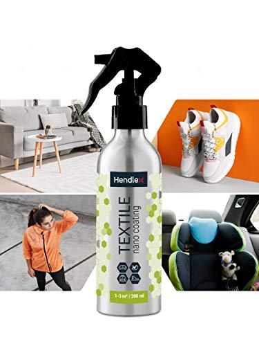 Spray Hendlex Nano Impermeabilizante de Textil 200ml | Nanotecnologia hace tu ropa de agua impermeable, calzados, tapicerías, etc. Spray impermeabilizante y repelente de líquidos y manchas