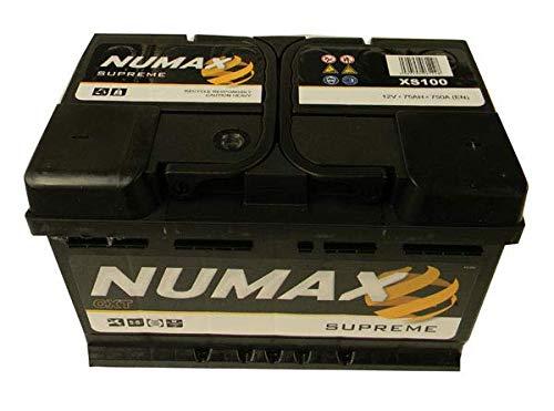 Numax Batterie Voitures Supreme XS100 LB3 12V 75AH 750 AMPS (EN)