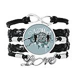 DIYthinker Star modèle Guerre Rue Paix Graffiti Bracelet Am