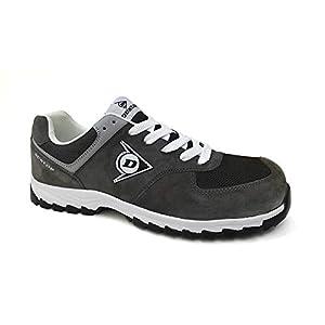 41tH8JxFFNL. SS300  - Dunlop DL0201040-44 Flying Arrow Line S3 Zapatos de ante y malla, color carbón, talla 44