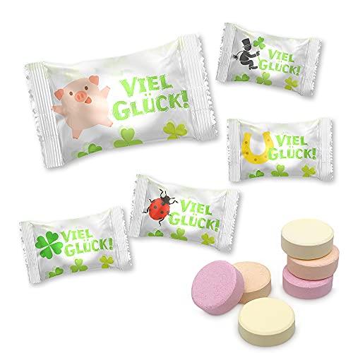 """800g Traubenzucker """"Viel Glück"""" Drops mit Vitamin C, perfekt als Mitgebsel für diverse Anlässe / ca. 400 Stück"""