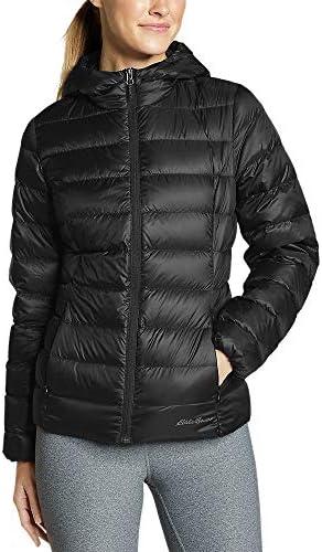 Eddie Bauer Women s CirrusLite Down Hooded Jacket Black Regular XL product image