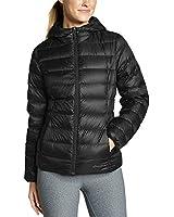 Eddie Bauer Women's CirrusLite Down Hooded Jacket, Black Regular L