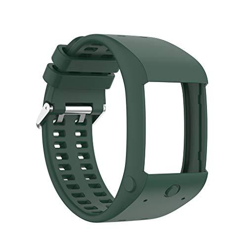Pulseira de substituição de pulso de borracha de silicone Smart Watch para Polar M600 Huhudde