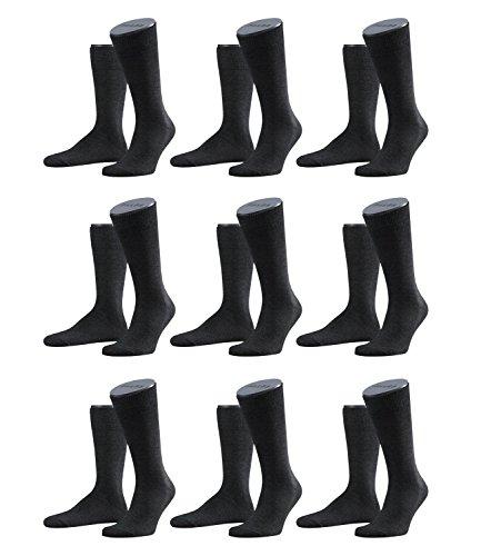 FALKE Herren Family Socken Strümpfe 14645 9er Pack, Sockengröße:43-46;Artikel:14645-3080 anthrazit mel.