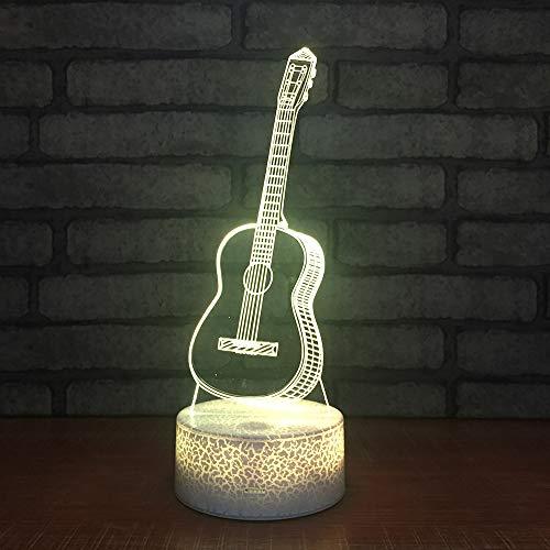 WJHXYD 3D Visual Illusion Lamp Veranderende Nachtlampen voor Home Decor Slaapkamer Acryl Led Art Gitaar