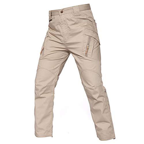 Drying Den Pantalon de randonnée en Plein air pour Hommes Pantalon Cargo en Tissu Checker Pantalon Cargo Pantalon de Chasse Militaire Khaki S