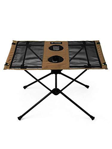 Helinox Table One,Campingtisch,Falt-Tisch,Getränkebehälter,leicht,stabil,faltbar,inkl Tragetasche,Coyote tan,one Size