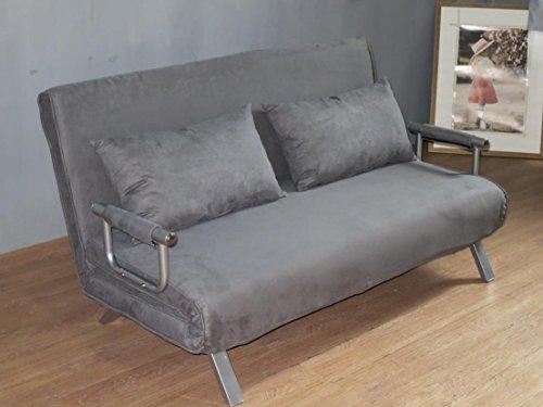 ITALFROM Divano Letto Sofa Bed Grigio divani 155x69x83h Divanetto Divano Letto 2 Piazze cod.4033